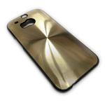 Чехол Yotrix MetalCase Round для HTC new One (HTC M8) (золотистый, алюминиевый)
