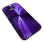 Чехол Yotrix MetalCase Round для HTC new One (HTC M8) (фиолетовый, алюминиевый)