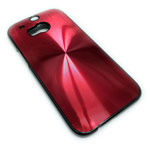 Чехол Yotrix MetalCase Round для HTC new One (HTC M8) (красный, алюминиевый)