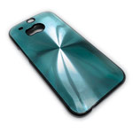 Чехол Yotrix MetalCase Round для HTC new One (HTC M8) (голубой, алюминиевый)