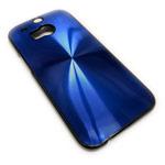 Чехол Yotrix MetalCase Round для HTC new One (HTC M8) (синий, алюминиевый)