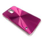 Чехол Yotrix MetalCase Round для Samsung Galaxy S5 SM-G900 (малиновый, алюминиевый)