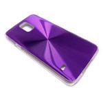 Чехол Yotrix MetalCase Round для Samsung Galaxy S5 SM-G900 (фиолетовый, алюминиевый)