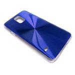 Чехол Yotrix MetalCase Round для Samsung Galaxy S5 SM-G900 (синий, алюминиевый)