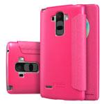 Чехол Nillkin Sparkle Leather Case для LG G4 Stylus H540F (розовый, винилискожа)
