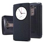 Чехол Nillkin Sparkle Leather Case для LG G4 mini H736 (темно-серый, винилискожа)