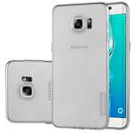 Чехол Nillkin Nature case для Samsung Galaxy S6 edge plus SM-G928 (серый, гелевый)