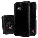 Чехол Nillkin Qin leather case для HTC One M9 plus (черный, кожаный)