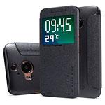 Чехол Nillkin Sparkle Leather Case для HTC One M9 plus (темно-серый, винилискожа)