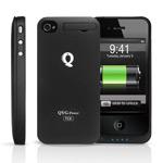 Чехол с батареей QYG Power pack для Apple iPhone 4/4S (1400 mAh) (черный)