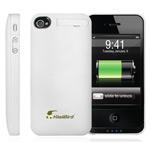 Чехол с батареей QYG Power pack для Apple iPhone 4/4S (1400 mAh) (белый)