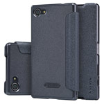 Чехол Nillkin Sparkle Leather Case для Sony Xperia Z5 compact (темно-серый, винилискожа)