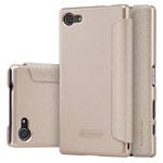 Чехол Nillkin Sparkle Leather Case для Sony Xperia Z5 compact (золотистый, винилискожа)