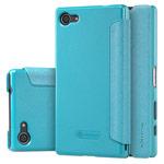 Чехол Nillkin Sparkle Leather Case для Sony Xperia Z5 compact (голубой, винилискожа)