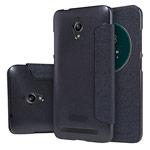 Чехол Nillkin Sparkle Leather Case для Asus ZenFone Go ZC500TG (темно-серый, винилискожа)