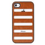 Чехол X-doria Dash case для Apple iPhone 4/4S (коричневый, кожанный)