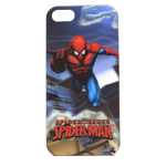 Чехол Disney Spider-Man 3D series case для Apple iPhone 5/5S (синий, пластиковый)