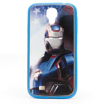 Чехол Disney Iron Man 3 series case для Samsung Galaxy S4 i9500 (синий, пластиковый)