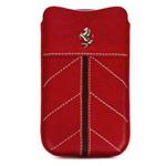 Чехол Ferrari California Sleeve универсальный (красный, кожаный, размер 4-5
