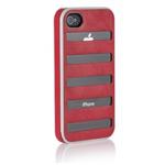 Чехол X-doria Dash case для Apple iPhone 4/4S (розовый, кожанный)