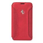 Чехол Ferrari F-12 Flapcase Booktype для Samsung Galaxy S5 SM-G900 (красный, кожаный)