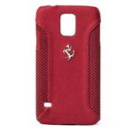 Чехол Ferrari F-12 Hardcase для Samsung Galaxy S5 SM-G900 (красный, кожаный)