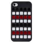Чехол X-doria Cubit Case для Apple iPhone 4/4S (черный/мозайка)