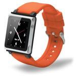 Браслет iWatchz Q Series для Apple iPod nano (6th gen) (оранжевый)