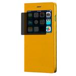 Чехол RGBMIX X-Fitted Privacy Guard для Apple iPhone 6/6S (оранжевый, кожаный)