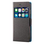 Чехол RGBMIX X-Fitted Bi-Color для Apple iPhone 6/6S (черный/голубой, кожаный)