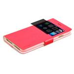Чехол RGBMIX X-Fitted Bi-Color для Apple iPhone 6/6S (красный/белый, кожаный)