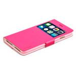 Чехол RGBMIX X-Fitted Bi-Color для Apple iPhone 6/6S (розовый/белый, кожаный)