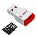 Флеш-карта Transcend microSDHC (16Gb, microSD, Class 10, USB-кард ридер)