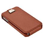 Чехол X-doria Dash Flip case для Apple iPhone 4/4S (коричневый, кожанный)