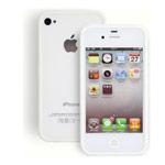 Чехол X-doria Dual Color Bumper для Apple iPhone 4/4S (прозрачный/белый)