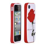 Чехол X-doria Verge Icon Case для Apple iPhone 4/4S (красный/розовый)