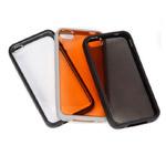 Чехол X-doria Scene Case для Apple iPhone 4/4S (серый/оранжевый)