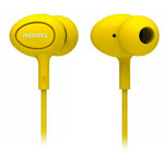 Наушники Remax Earphone RM-515 (желтые, пульт/микрофон, 20-20000 Гц, 10 мм)