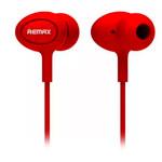 Наушники Remax Earphone RM-515 (красные, пульт/микрофон, 20-20000 Гц, 10 мм)