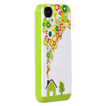 Чехол X-doria Dream Works Case для Apple iPhone 4/4S (с рисунком, Green Land)