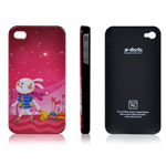 Чехол X-doria IMD Series Case для Apple iPhone 4S (с рисунком, Happy Rabbit)