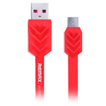 USB-кабель Remax Fishbone Data Cable (microUSB, 1 м, плоский, красный)