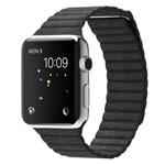 Ремешок для часов Synapse Leather Loop для Apple Watch (38 мм, черный, кожаный)