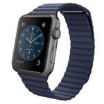 Ремешок для часов Synapse Leather Loop для Apple Watch (38 мм, синий, кожаный)