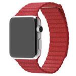 Ремешок для часов Synapse Leather Loop для Apple Watch (38 мм, красный, кожаный)
