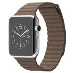 Ремешок для часов Synapse Leather Loop для Apple Watch (38 мм, коричневый, кожаный)