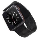 Ремешок для часов Synapse Milanese Loop для Apple Watch (38 мм, черный, стальной)