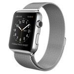 Ремешок для часов Synapse Milanese Loop для Apple Watch (38 мм, серебристый, стальной)