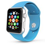 Ремешок для часов Synapse Sport Band для Apple Watch (38 мм, голубой, силиконовый)