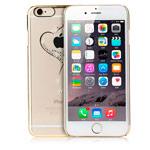 Чехол Yotrix HardCase Crystal для Apple iPhone 6S (Heart Golden, пластиковый)